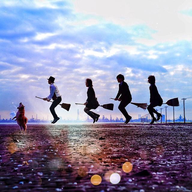 El 'Harry Potter' japonés que arrasa en Instagram con su escoba voladora